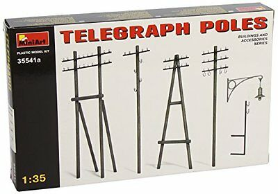Telegraph Poles Diorama Accessories Plastic Kit 1:35 Model MINIART