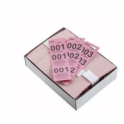 Winco CCK-5PK, Pink Coat Check Tags, 500-Piece Box