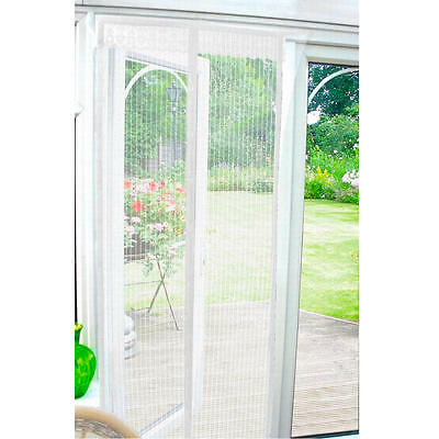 Country Club Magnetic Insect Fly Bug Pest Door Screen Curtain White 90x210cm