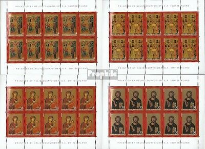 makedonien 153-156 Sheetlet mint never hinged mnh 1999 Icons