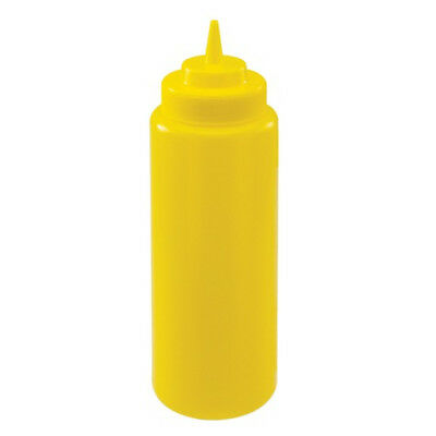 Winco PSW-32Y, 32-Ounce Yellow Wide Mouth Squeeze Bottle