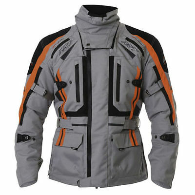RST New Paragon 5 V Pro Series Waterproof Textile Jacket Silver F.Red 1416 2416