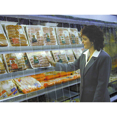 """Strip Curtain for Upright Refrigerated Display Case Size 48""""W x 55""""H"""