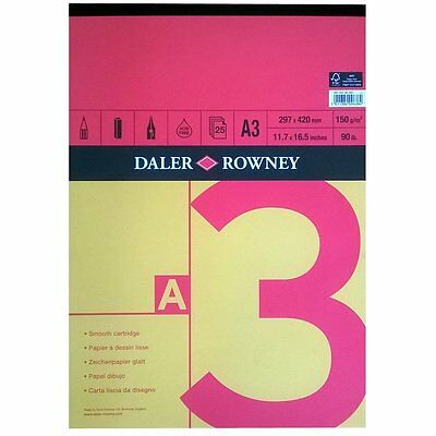 Daler Rowney Red & Yellow Sketch Pad - A3 Gummed