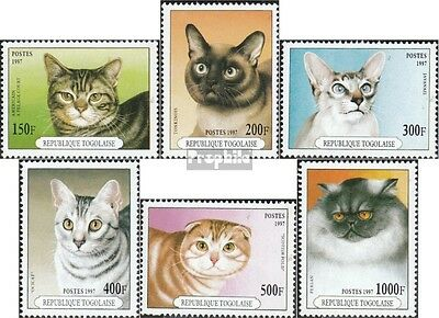 Togo 2537-2542 (complete.issue.) unmounted mint / never hinged 1997 Cats
