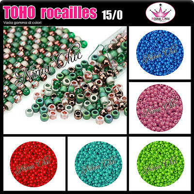 3300pz TOHO ROCAILLES 15/0 microperle,perline conteria embroidery seed beads10gr