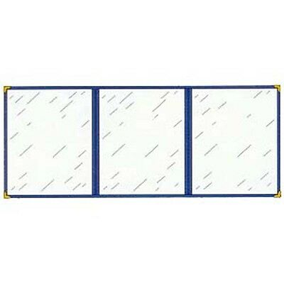 """Menu Cover, Triple Pocket, With Six Viewing Sides, 5 1/2"""" x 8 1/2"""" Black"""