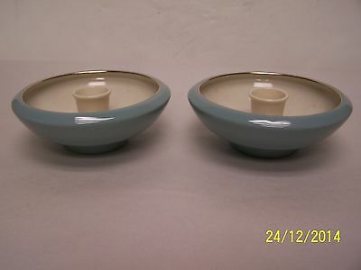 Lenox Turquoise Pair of Candle Holders