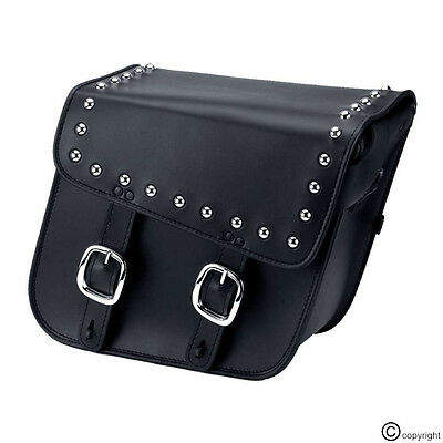Motorcycle Motorbike Studded Saddle Bags Panniers Luggage Bags
