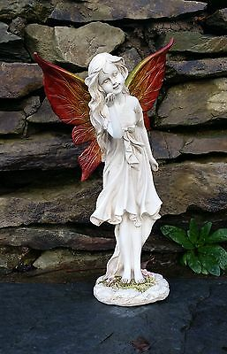 Large Magical Fairy Garden Ornament Stone effect Figurine Angel Statue Gift