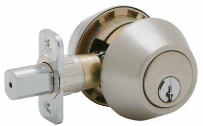 Dexter by Schlage JD62V630 Double-Cylinder Deadbolt, Satin Stainless New