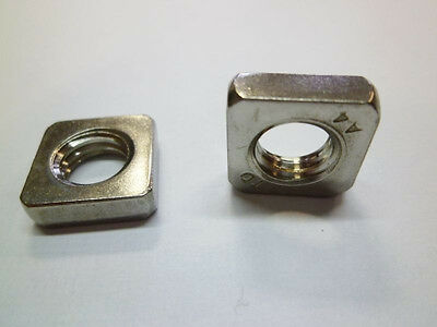 Square nut DIN 562 Stainless steel Low Form M3 M4 M5 M6 M8 M10 V4A