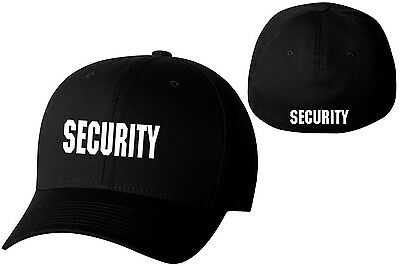 0bc90e7b636 Security Black Flexfit Cap-8346-8347