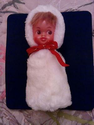 Old Vintage Russian Soviet DOLL CHRISTMAS Celluloid ca1960 GIRL GREAT CONDITION!