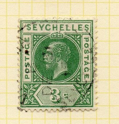 Seychelles 1912 Early Issue Fine Used 3c. 073147