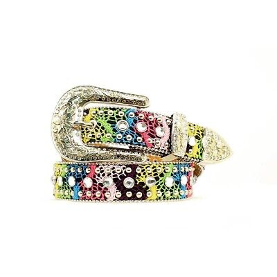 Nocona Girls Multi Colored Crochet Belt N4410897