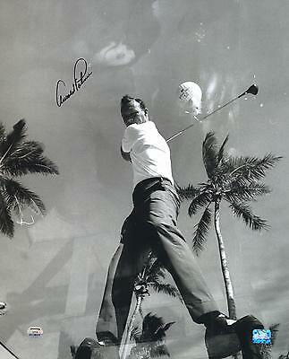 "Arnold Palmer Autographed 16"" x 20"" Glass Tee Box Photograph"