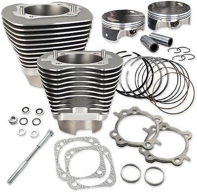 S S Cycle Stone Gray Powdercoat Big Bore 117 Kit for 2007-2016 Harley Twin Cam