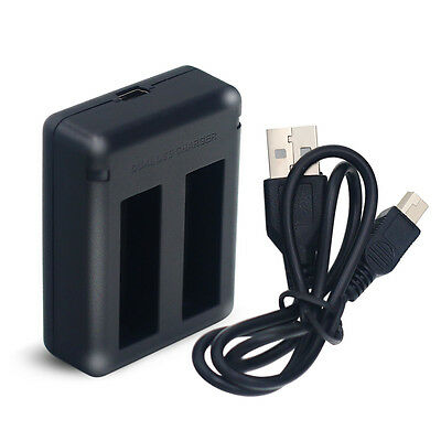 Dual USB Battery Charger for Gopro AHDBT-401 HD Hero4 Silver Black UK