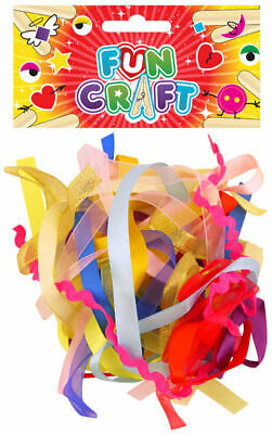 Pack of 15 COLOURED RIBBONS Assorted Colours ART and CRAFT KIT Decoration