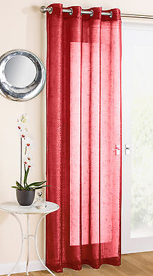 Eyelet Voile Curtain Panel Marrakesh Red