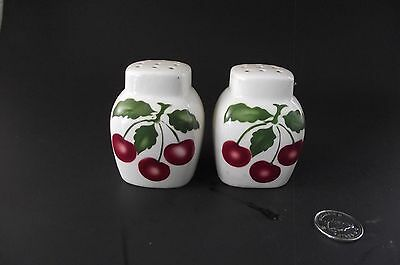 Red Cherries Made In England Square Salt And Pepper Shakers