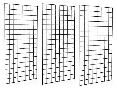 2' x 4' Deluxe Black Wire Gridwall Retail Display Panels Case of 3 FREE SHIPPING