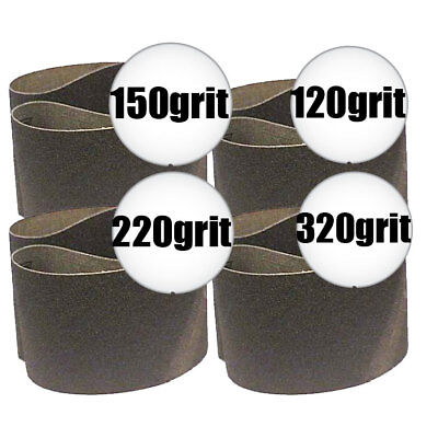 "4pk 3"" x 21"" Sanding Belt Kit Sait 57207 New"