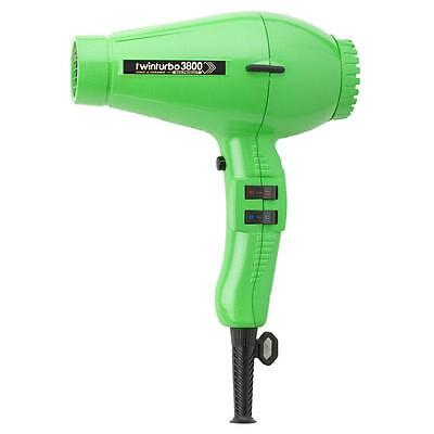 TWIN TURBO HAIR DRYER 3800 COMPACT CERAMIC IONIC -- Green by Parlux TWINTURBO