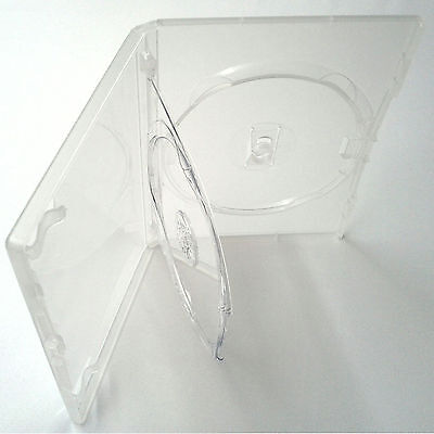1 X Genuine Amaray Triple DVD Clear Case with Double Tray 14mm Spine - Pack of 1
