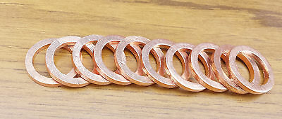 Metric Copper Sealing Washers - Sizes M3 to M24
