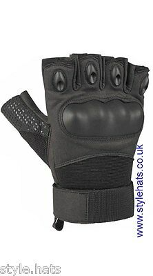 Finger-less Gloves Hunting Tactical Military Sniper Outdoor Sports Cycling Black