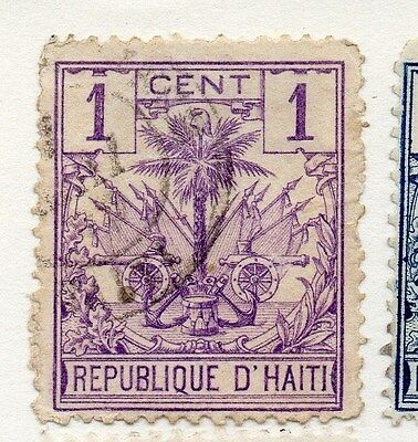 Haiti 1887 Early Issue Fine Used 1c. 073371