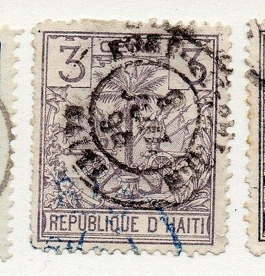 Haiti 1887 Early Issue Fine Used 3c. 073373