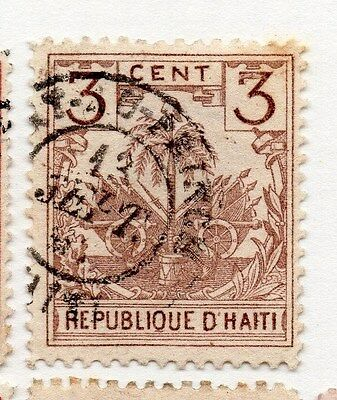 Haiti 1887 Early Issue Fine Used 3c. 073393