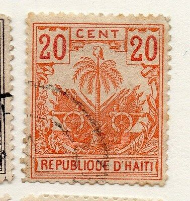 Haiti 1887 Early Issue Fine Used 20c. 073396