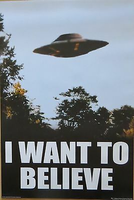 X Files - I Want To Believe-Licensed POSTER-91cm x 61cm-Brand New