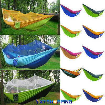 Portable Outdoor Garden Swing Camping Travel Adults Kids Hammock Parachute Bed