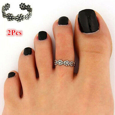 New Women Celebrity Fashion Retro Simple Toe Ring Adjustable Foot Beach Jewelry