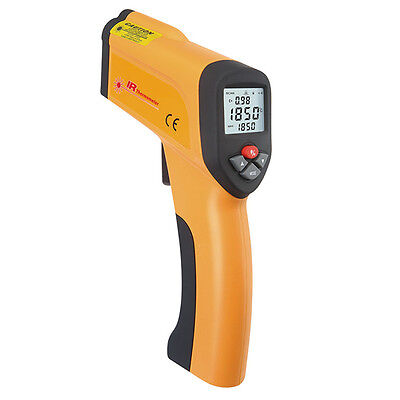 High Temperature Infrared Laser Thermometer Gun Pyrometer LCD Non-Contact 1600℃