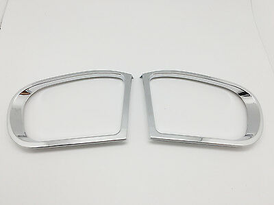 (2) Chrome Door Mirror Trim Trim Cover For Mercedes Benz W203 C Class