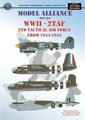Model Alliance decals 1/48 WWII 2nd Tactical Air Force 1944-45 # 48204