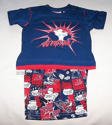 Sydney Roosters Mascot NRL Boys Navy Blue Printed Cotton Pyjama Set Size 00 New