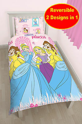 New Disney Princess Boulevard Single Duvet Quilt Cover Set Girls Pink Bedroom