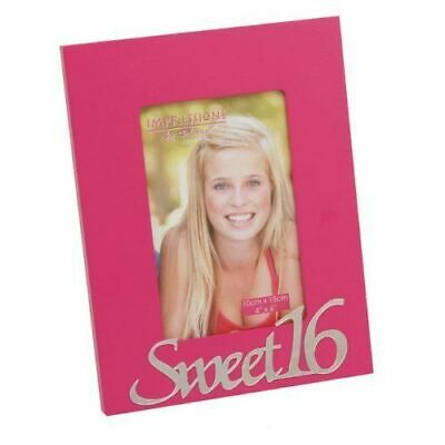Sweet 16 Pink Photo Frame - 16th Birthday Picture Gift