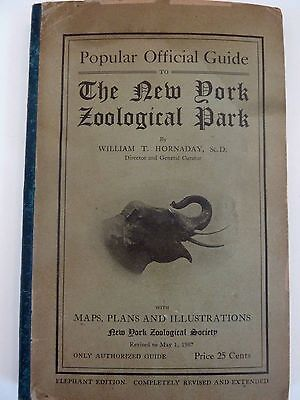 1907 Popular Official Guide To The New York Zoological Park By Hornaday - 172Pgs