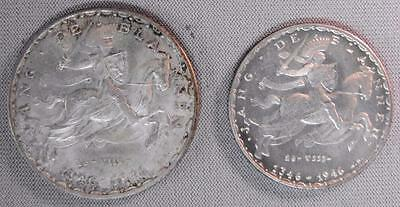1946 Luxembourg 50 & 20 Francs (2) Silver Coins, Unc. & Choice BU.