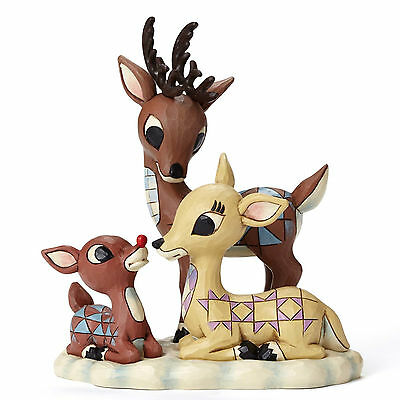 Jim Shore Rudolph The Red Nosed Reindeer Traditions w/ Donner & Mother 4053071