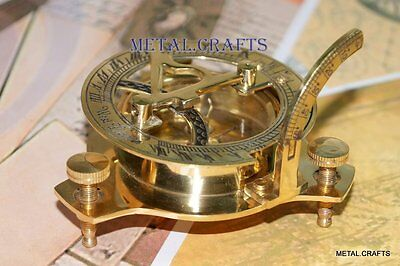 Brass Sundial Compass Antique Nautical Compass Royal Navy Victorian Home Decors