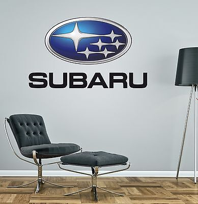 SUBARU LOGO COLOUR wall car sticker decal art 5 sizes bedroom garage man cave